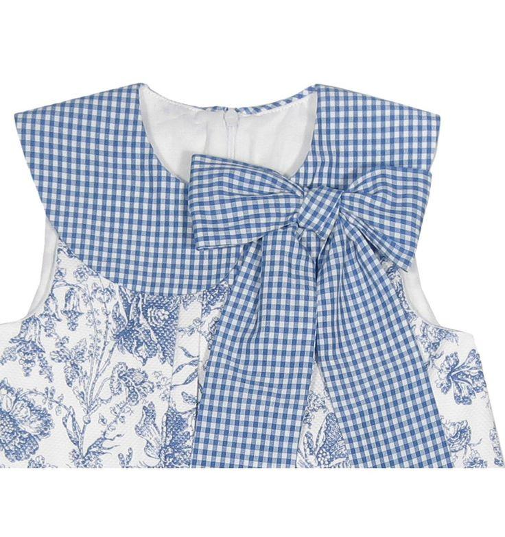 Muy original! Vestido de cuadros y flores de la marca Eve Children en Outlet para Niña (2-12 años). Descubre las marcas de moda infantil con rebajas
