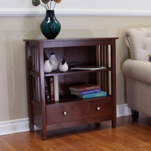 Hollydale Chestnut Mission Style Bookcase