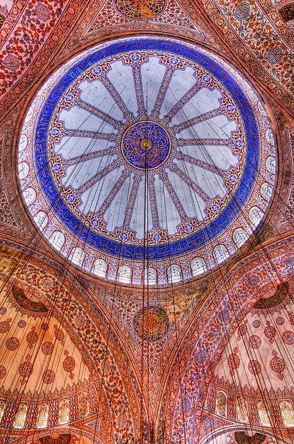 Muslim Mosques throughout the world contain some of the most beautiful architecture and interior designs which have sublime intricate patterns. In today's post we'll be looking at some delightful and breathtaking mosque ceilings, these ceilings have ornate patterns and designs which would have taken many years to create.