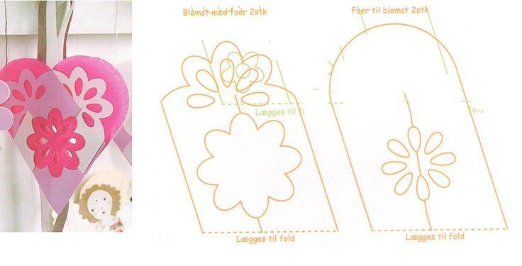 Dobbelhjerte med blomst