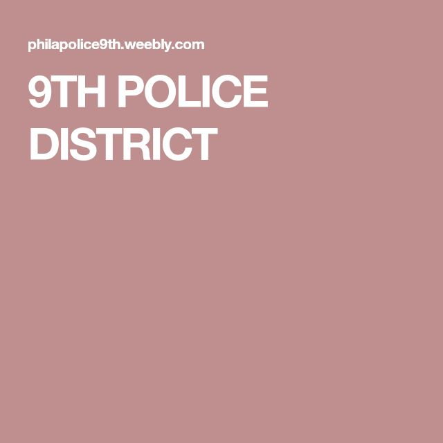 9TH POLICE DISTRICT