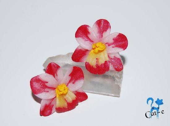 Cercei clips orhidee, by CatalinaElena, 20 Lei