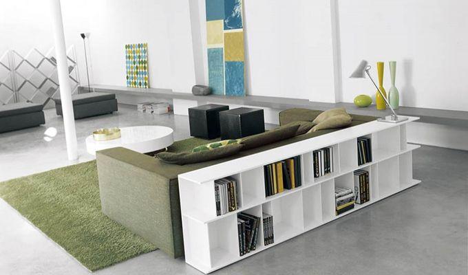 Dos de canapé bibliothèque contemporain - Crédit internet