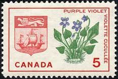 Violett, Canada  via http://www.plantstamps.net/