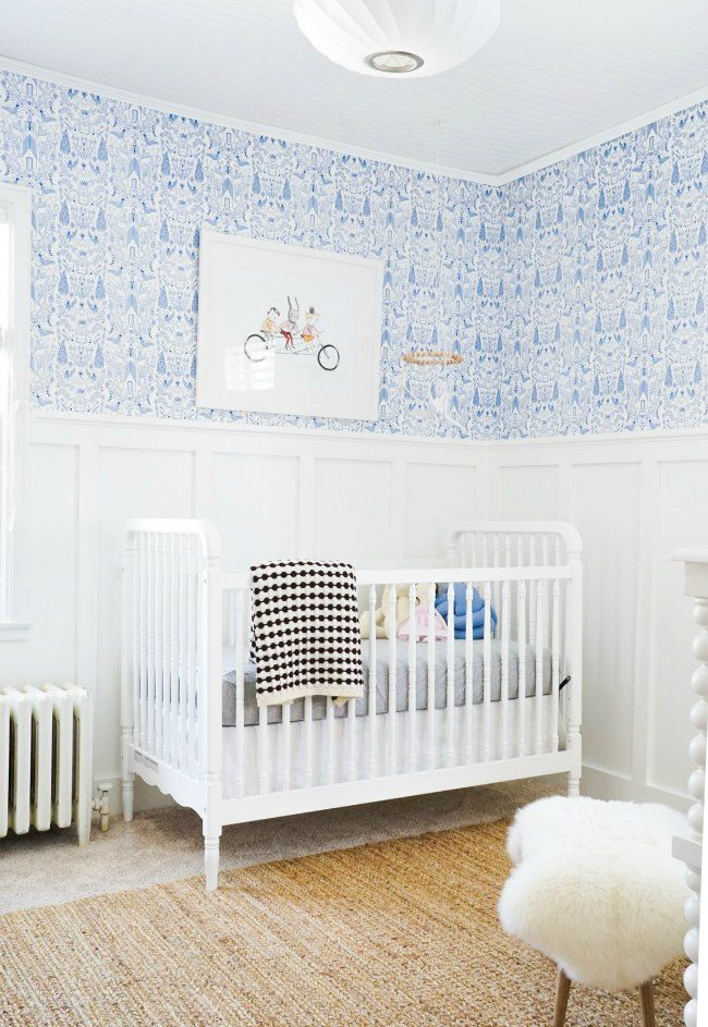 decoracin azul y blanco para nias compartimos fotografas de una habitacin para beb nia decorada en azul y blanco te gustar - Habitacion Bebe Nia