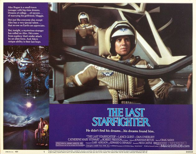 The Last Starfighter - Lobby card with Lance Guest & Dan O'Herlihy