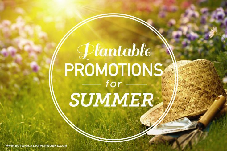 The prime season of the year for planting is officially here so there is no better time to get growing with plantable giveaways featuring your branding.