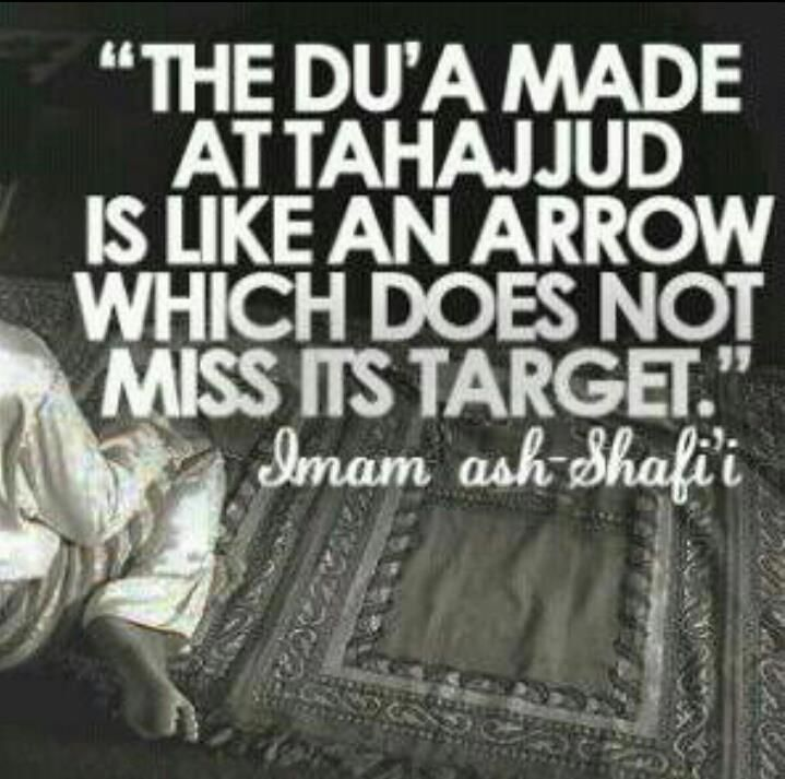 My dear Allah, I missed my Tahajjud for many times. I want it back. Wake me up everyday in the early morning.