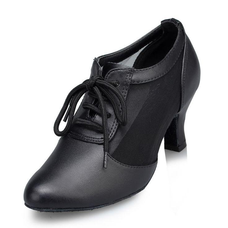 Учителей женщин обувь Черный Натуральная кожа Современные танцевальные туфли коровьей Бальные танцы обувь женская общение танцевальная обувь купить на AliExpress