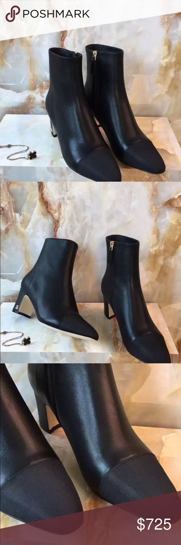 Chanel black booties Chanel black booties boots CHANEL Shoes Ankle Boots & Booties