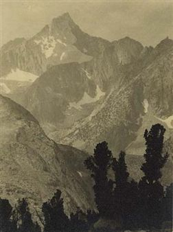 """""""Mount Clarence King"""" By Ansel Adams ,Circa  1925"""
