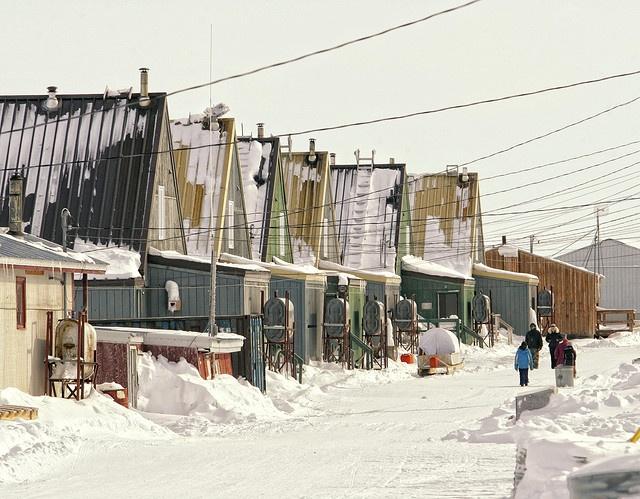 Hall Beach in Nunavut, Canada