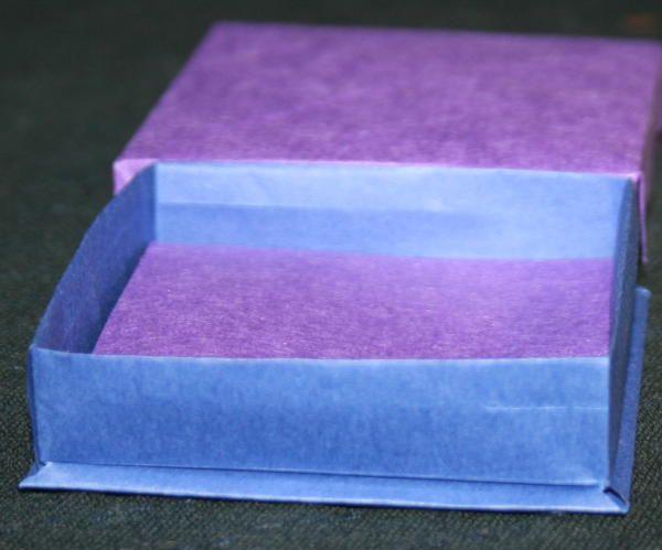Scatola origami con coperchio - tutorial - La pappadolce
