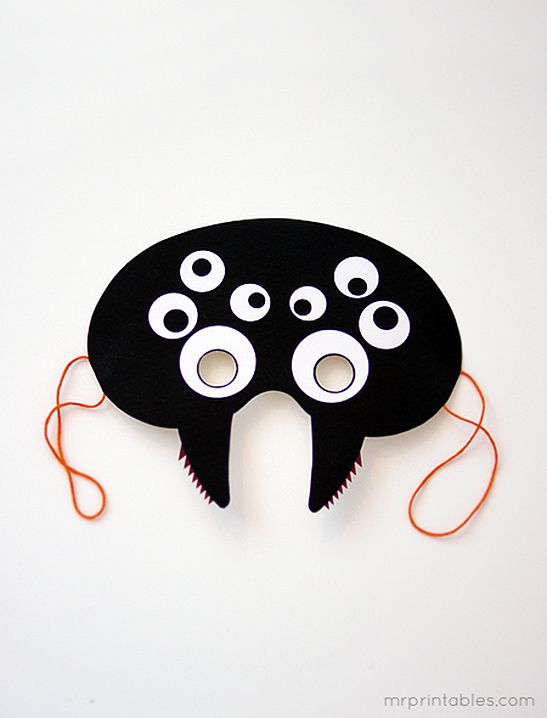 Máscaras de Halloween imprimibles - Sr. Imprimibles