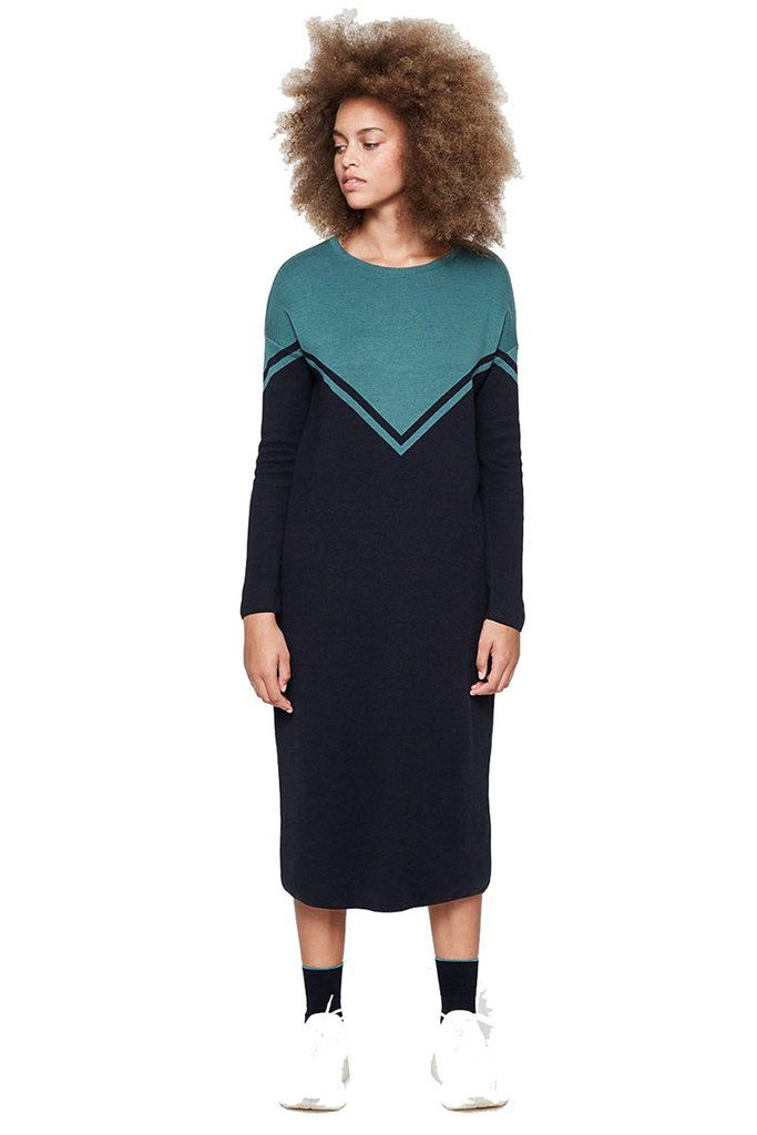 adb88b72339895 ArmedAngels Melisa Colorblock jurk