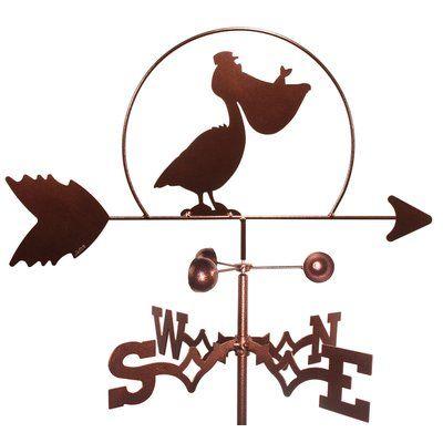 SWENProducts Pelican Bird Weathervane with Flat Mount