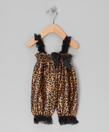 Take a look at this Brown Cheetah Satin Playsuit by Royal Gem Clothing on #zulily today!