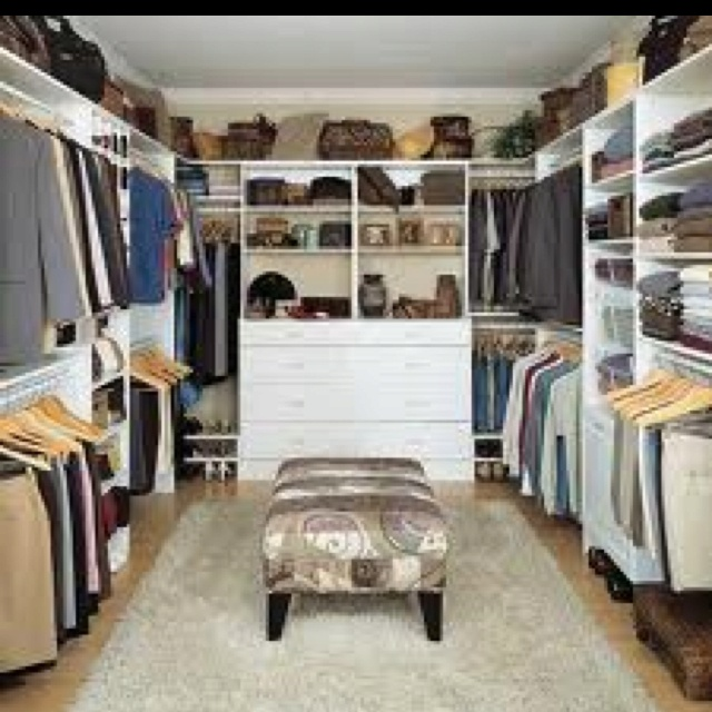 Walk In Closet Organizing Ideas Part - 18: Home Decor, Walk In Closet Organizer Plans: Wonderful Walk In Closet  Organization Ideas For Modern Home