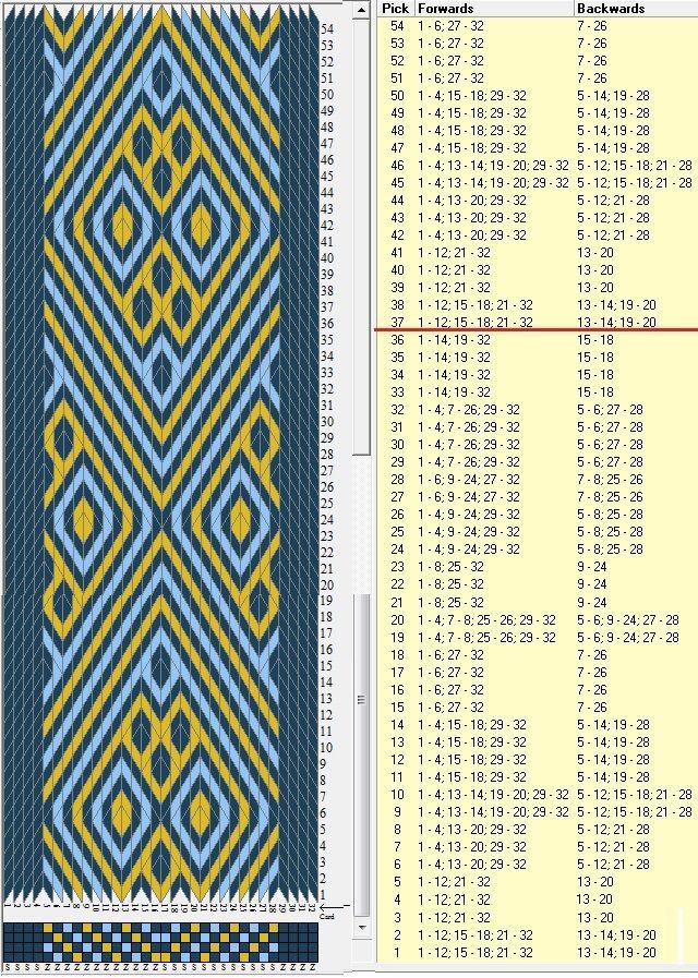 32 tarjetas, 3 colores, repite cada 36 movimientos // sed_1003a diseñado en GTT༺❁