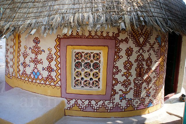 beautiful outdoor #hut - from Kutch,#Gujrat, #India