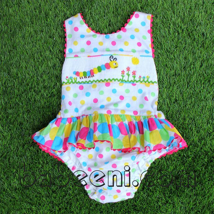 60 best Baby girl smocked swimwear images on Pinterest ...