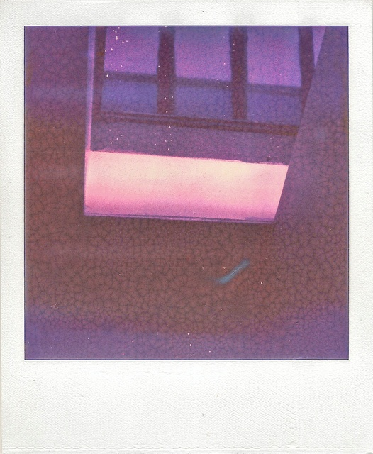 """Skylight.""  Skylight in my apartment.  Shot with my SX-70 Polaroid using PX-70 Colorshade Push Film from the Impossible Project"