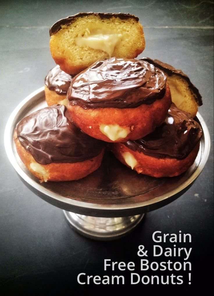 Grain Free Boston Cream Donuts! (Gluten/Dairy/Nut Free)