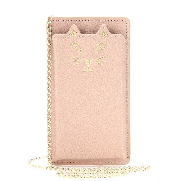 Charlotte Olympia - Feline leather iPhone 5 case - mytheresa.com #FashionTech #RoseGold