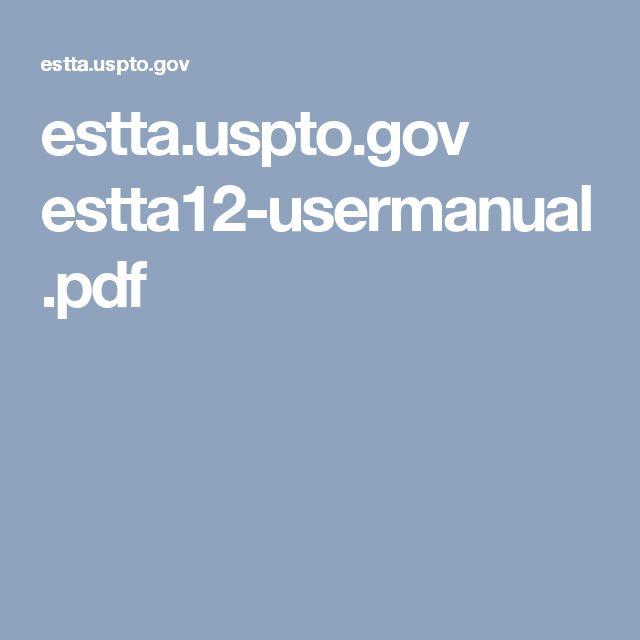 estta.uspto.gov estta12-usermanual.pdf