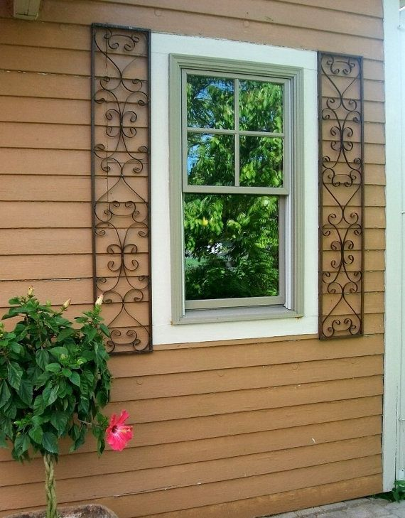 New Orleans Exterior Wrought Iron Window Shutters By