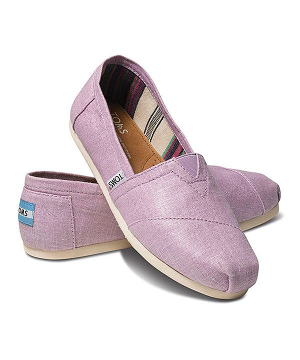 Another great find on #zulily! Orchid Metallic Linen Classics by TOMS #zulilyfinds