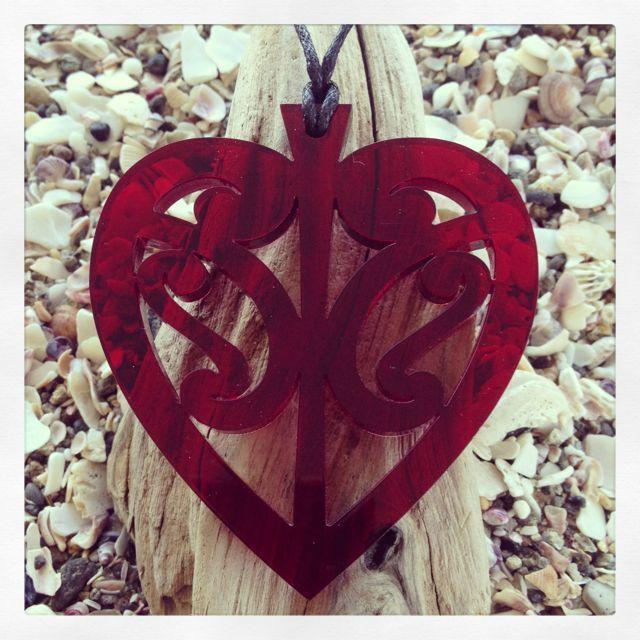The Paua Room - Kowhaiwhai Heart Necklace, $15.00 (http://www.thepauaroom.com/kowhaiwhai-heart-necklace/)