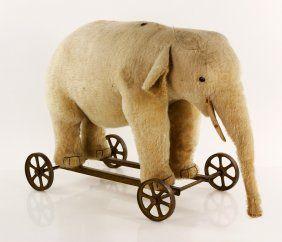 Steiff Elephant Pull Toy, I love elephants, I want a real one !
