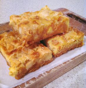 White Chocolate & Macadamia Slice
