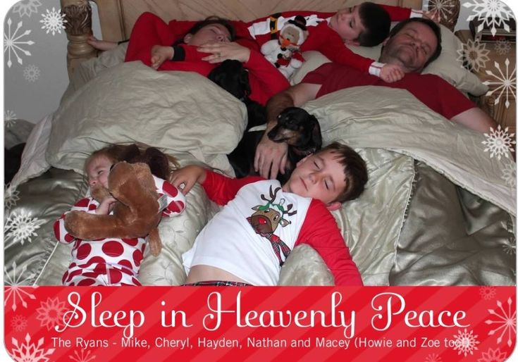 Funny family Christmas card idea.