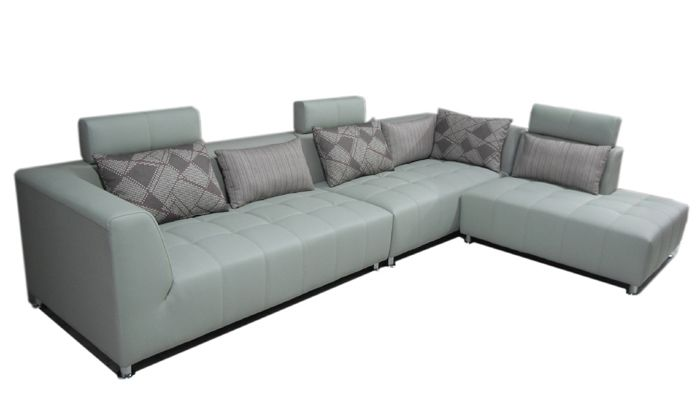 1599.00$  Watch now - http://aliad2.worldwells.pw/go.php?t=1134179698 - Free Shipping Classic Design Hot sale Leather L Shaped Corner sofa Sectional Sofa wich cushions chaise longue as sofa bed  L9096 1599.00$