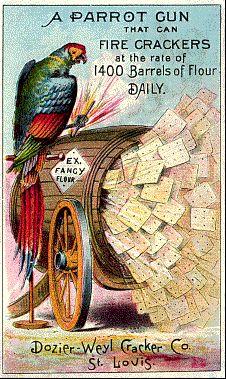 Dozier-Weyl Cracker Co. Trade Card Place Scrapbook