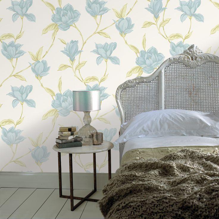 Praxis | Een bloemenprint op de muur en een kleed op bed. Dit geeft een natuurlijk effect.