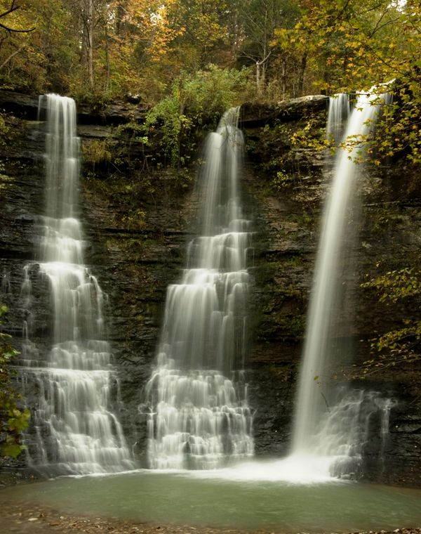 Triple Falls -Jasper Arkansas. Wow this is where my grandmother lives.