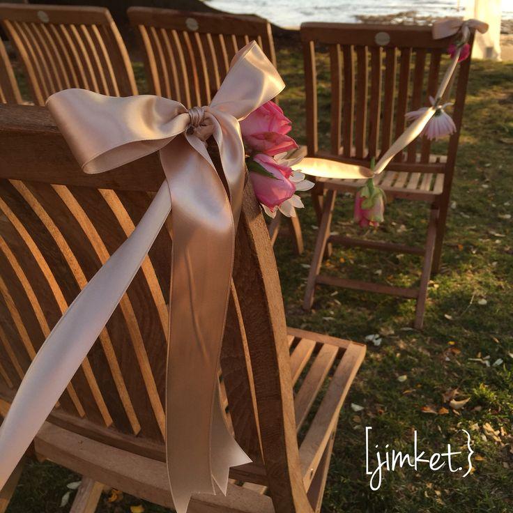 Wedding ceremony floral garland