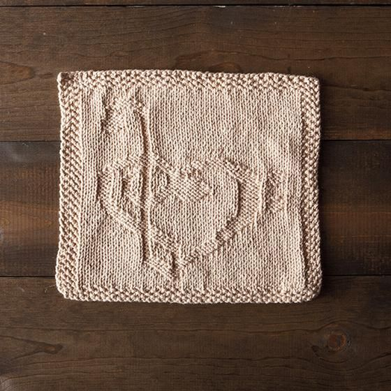 Cable Knit Dishcloth Pattern : Love Music Dishcloth - Knitting Patterns and Crochet Patterns from KnitPicks....