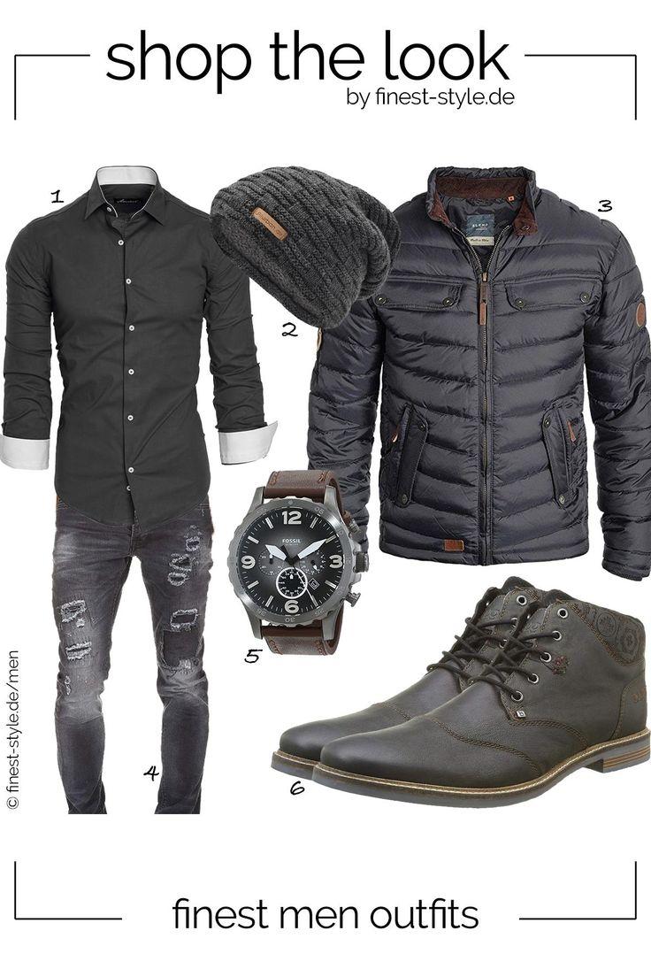 Moderner Look für Herren mit Teilen von Fossil, Bugatti, Blend, urban air und A… – Erik Hendriksen