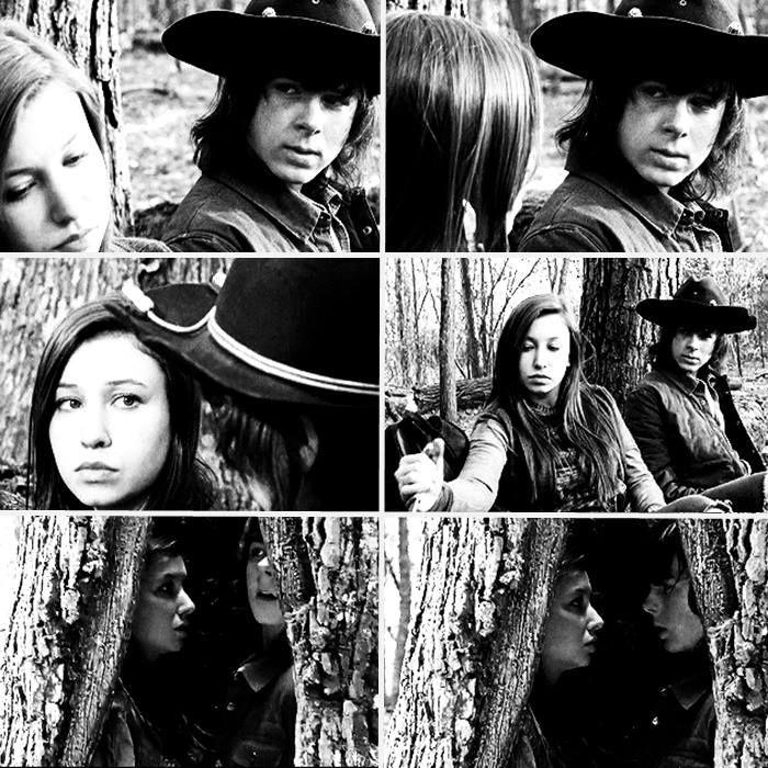 Carl and Enid sitting in a tree K-I-S-S-I-N-G #TWD FYI, not a spoiler this is a sneak peek from Talking Dead.