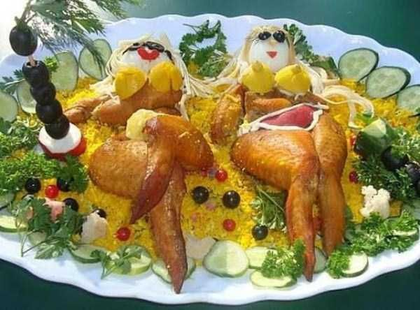 unpleasantly looking russian food art funny stuff
