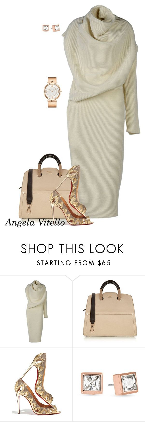 """""""Untitled #631"""" by angela-vitello on Polyvore featuring Acne Studios, Furla, Christian Louboutin and Michael Kors"""