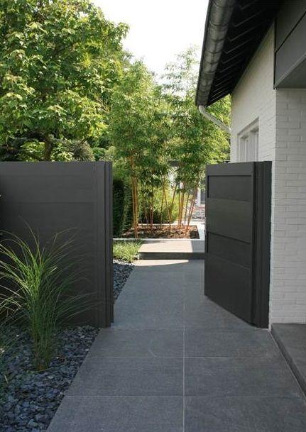 25 beste idee n over grijze tegels op pinterest grijze badkamertegels kleine badkamer tegels - Moderne tuin ingang ...