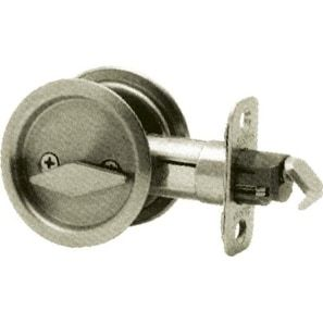 Kwikset Round Pocket Door Lock Silver Steel