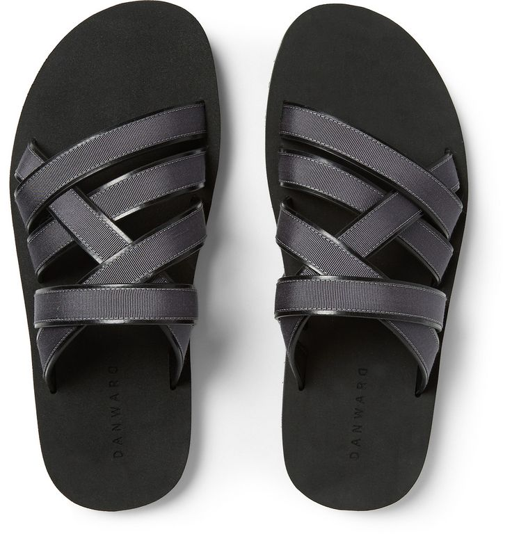Dan Ward - Grosgrain-Trimmed Leather Sandals  | MR PORTER