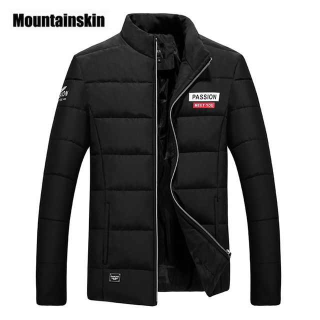Buy now Mountainskin 2017 Casual Men's Jacket Spring Winter Stand Collar Parka Mens Coat Slim Outerwear Male Jacket Brand Clothing SA209 just only $18.69 - 19.69 with free shipping worldwide  #jacketscoatsformen Plese click on picture to see our special price for you