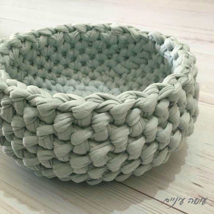 How To Make A Woven Yarn Basket : Best t shirt yarn ideas images on knits